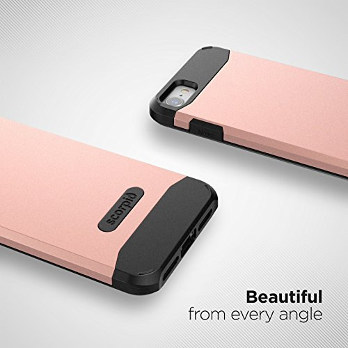 """iPhone 7 Case (Scorpio R5) Premium Protection Cover w/ Screen Guard - iPhone 7 4.7"""" (Champagne Gold) Rose Gold"""