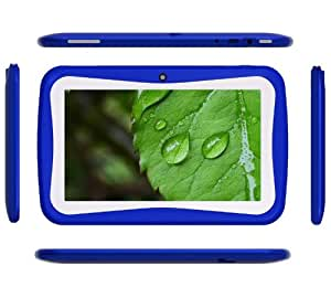 Klastor NEW Blue Rugged Boys Kids Android 4.1 Tablet PC 8gb WiFi - ideal christmas or birthday gift with Kid Market and parental Controls - Google Play store can be password protected (Dark Blue)
