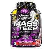Muscletech Performance Series Mass Tech (Intra-Workout, 60g Protein, 130g Carbs, 820 Calories, 13g BCAAs) - 7 lbs (3.18 kg) (Strawberry)