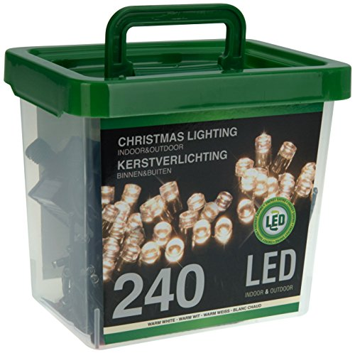 Home&Style LED 240-er Lichterkette in Kunststoffbox, warm weiß, AX8221040 (Schöner Container)