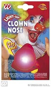 drôle clown rouge nez avec LED