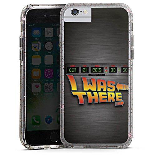 Apple iPhone 6s Plus Bumper Hülle Bumper Case Glitzer Hülle Zukunft Future Marty Bumper Case Glitzer rose gold