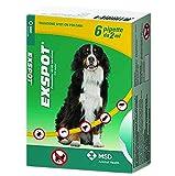 EXSPOT 6 PIPETTE 2 ml - Antiparassitario per cani da 41 Kg a 55 Kg