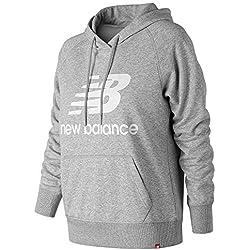 New Balance Wt91523 Sudadera con Capucha, Mujer, Athletic Grey, X-Large
