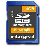 Integral INSDH4G10V1 Carte mémoire SDHC 4 Go Classe 10