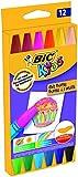BIC Kids Oil Pastels Ceras Blandas - colores Surtidos, Blíster de 12 unidades
