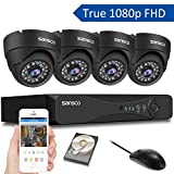 [TRUE 1080p] SANSCO 4 Channel FHD CCTV Camera System with 4 2 Mega-pixel