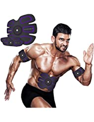 [nueva versión 2017] Cinturón de tonificación abdominal, cinturón de la cintura, cuerpo de tóner ABS entrenador muscular, entrenamiento en forma de ABS, equipo de entrenamiento de fitness unisex, equipo de entrenamiento de fitness para el hogar apoyo para hombres y mujeres (Abs fit+Body fit)