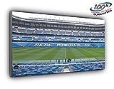 Real Madrid Estadio Bernabeu Panoramic-lienzo decorativo (50pulgadas x 20pulgadas más de 4pies de ancho x 1,5pies de alta calidad listo para colgar