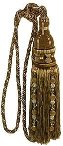 DUCHESS GOLD BEIGE PERLEN QUASTE, VERSTELLBARE RAFFHALTER #EGATIREH RIV ZUGBAND **
