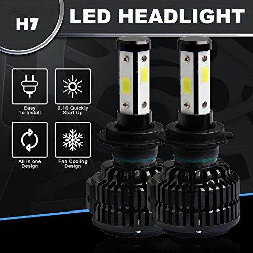 120w Licht Lampe (Ansenesna 120W 12800lm 4 Seiten LED Auto Scheinwerfer Kit H7 HB2 Höhe/Niedrig Licht HID 6000K Lampe)
