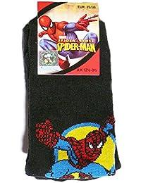 1 paire de Chaussettes d'intérieur anti-dérapantes Spiderman