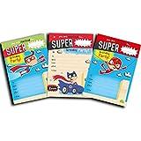 30cumpleaños infantil Invitaciones Super Hero unidades), colores variados