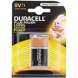 Duracell - Pile Alcaline - 9V x 1 - Plus Power (6LR61)
