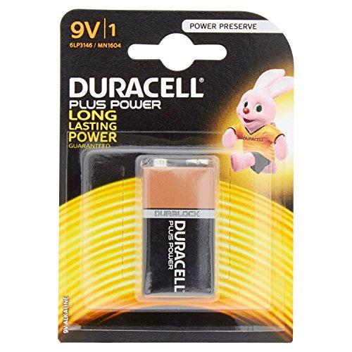 Duracell Plus Power 6LP3146 - Batteria Alcalina, Transistor, 9V, confezione da 1