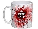 Tasse mit Blutspritzern und Aufschrift