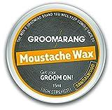 Groomarang bigote y barba cera Extra fuerte sándalo 100% cabello Natural cuidado orgánico y veganos 15ml