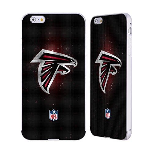 Ufficiale NFL Righe 2017/18 Atlanta Falcons Argento Cover Contorno con Bumper in Alluminio per Apple iPhone 5 / 5s / SE LED