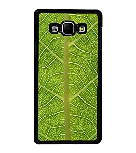 PrintVisa Designer Back Case Cover for Samsung Galaxy A8 (2015) :: Samsung Galaxy A8 Duos (2015) :: Samsung Galaxy A8 A800F A800Y (Cute Green Leaf Design)