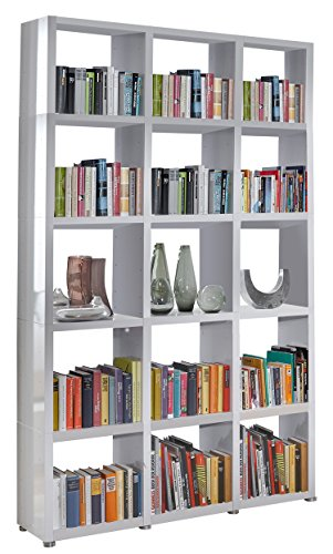 Regalsystem Raumteiler Bücherregal Standregal READY 53 Alpine Weiß 142 x 232 ...