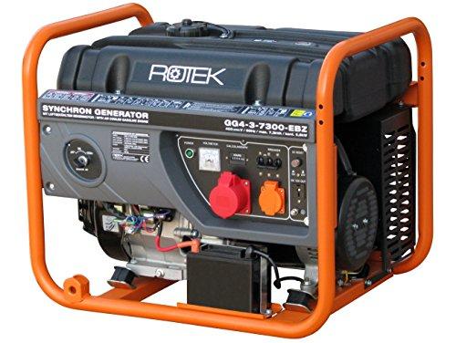 Rotek Benzin Stromerzeuger GG4-3-7300-EBZ (7,3 kVA / 6,3kW 400V 50Hz 3-phasig)