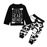 Bekleidung Longra Baby Jungen Outfits Kleidung Camouflage T-Shirt Tops + Lange Hosen Set(0-24Monate) (100CM 12-18Monate, Gray) (80CM 12Monate, Black)