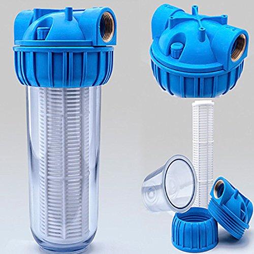 Vorfilter 1'' - 5000 L/h für Garten Pumpen / Hauswasserwerke / Schmutz filter / Sandfilter / Plus Wandhalterung und Filterschlüssel
