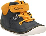 Clarks Kids Navy Tiny Dan 3 Infant XW