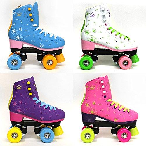 Venus Kingdom GB Quad Rollschuhe 4 Rollen Skates White Damen UK 6