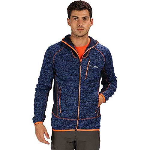 Regatta Herren Cartersville V Extol Stretch Kapuzenjacke Fleece L Navy/Navy/Blaze Orange Sport Stretch Jacke