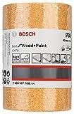 Bosch 2608607708 - Rotolo carta abrasiva per legno, 93 mm x 5 m, grana P80, confezione da 1