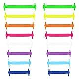 Elastische Silikon Schnürsenkel bunt, flach von Xunits: Schleifenlose Schuhbänder in 13 verschiedenen Farben (auch neon) für Kinder & Erwachsene