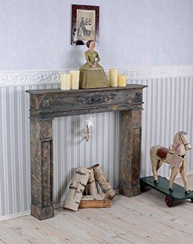 Kaminumrandung Shabby Chic Kaminkonsole Holzkamin Vintage Kamin Palazzo Exklusiv -
