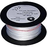 100m - 500m Dyneema Drachenschnur 30daN-500daN weiß 0,3mm-1,8mm sehr dehnungsarm geflochten Einleiner Lenkdrachen, Länge:100m, Durchmesser / Bruchlast:0.9mm 95daN