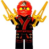 Custom Minifigur Ninja Kai Kimono aus Original Lego Ninjago Bauteilen mit Saigabeln (Sai)