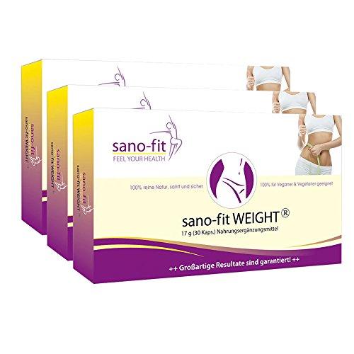 Einfach Abnehmen mit sano-fit WEIGHT von Dr. Jokar 3-Monate (3 x 30 Abnehm-Kapseln) Richtig und effektiv Abnehmen: keine Füll- oder Bindemittel. Ohne künstliche Inhaltsstoffe. Kostenlose Lieferung
