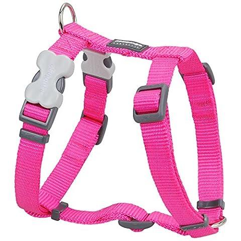 Red Dingo Plain Dog Harness, S, 12 mm/ 30 - 44 cm, 25 - 39 cm Neck Size, Classic Hot Pink