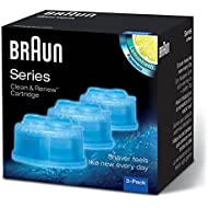 Braun CCR Clean and Renew Refill Cartridges, Lemon Fresh Formula, 3 Pack