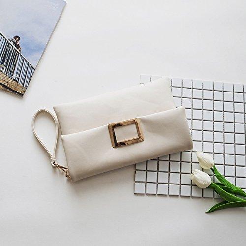 schlagen Sie einen kleinen Kreis der frauenart und Weiseschulterbeutel einfaches kettendiagonalpaket Weiß