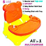 TruGood 5 in 1 Booster Seat for Kids Babies Multipurpose Folding Swing Chair, (Multicolour)
