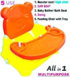 #4: TruGood 5 in 1 Booster Seat for Kids Babies Multipurpose Folding Swing Chair, (Multicolour)