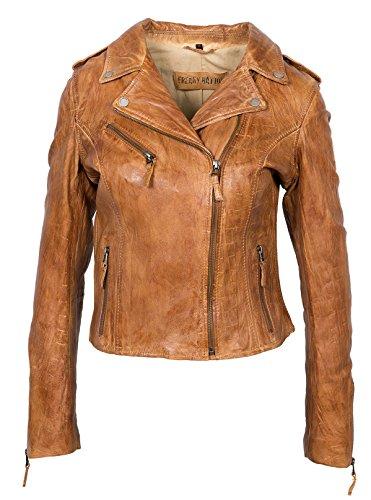 Donne modello sottile in vera pelle giacca corta moto giacche