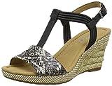 Gabor Shoes Damen Comfort Plateau, Schwarz (Koala/schw. (Bast) 11), 40.5 EU