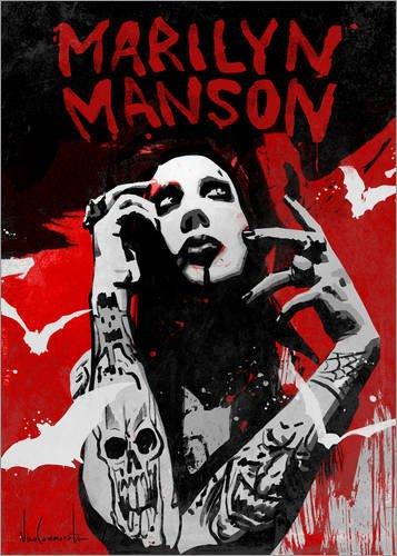 Posterlounge Acrylglasbild 90 x 130 cm: Marilyn Manson von Nino Cammarata - Wandbild, Acryl Glasbild, Druck auf Acryl Glas Bild