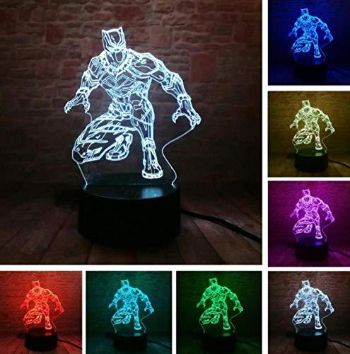 xiadsk 3DNachtlichtschnell und wütend8 Motorrad LED Nachtlicht Farbwechsel Tischlampe Methacrylat Kinderteller Licht Lamparas, Switch 3 Colors