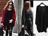 Womens European And American Style Fashion Bat Sleeve Sweater