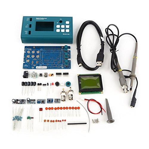 Hantek Digital Storage Oscilloscope Kit de bricolaje piezas desmontadas con LCD 20MHz Probe Teaching Set