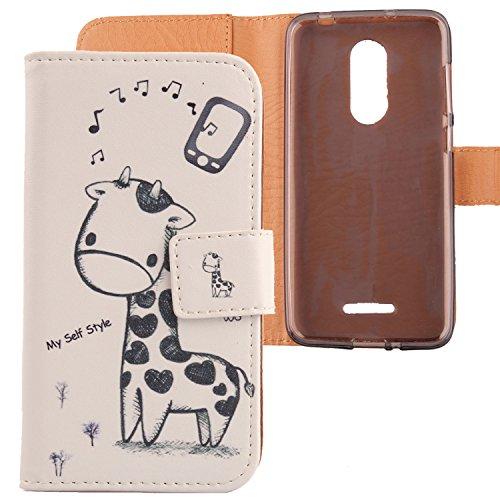 Lankashi PU Flip Leder Tasche Hülle Case Cover Schutz Handy Etui Skin Für Coolpad Torino S 4.7