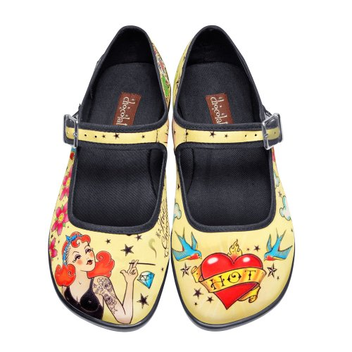 Hot Chocolate Design Chocolaticas Tattoo Ballerines Mary Jane pour femmes Multicolore