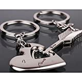 Paar Keychain Schlüsselbund -Ich Liebe Dich Herz + Schlüssel Metall Schlüsselanhänger Schlüsselbund Valentinstag Liebhaber Geschenk/Hochzeitstag/Geburtstag,1 Paar